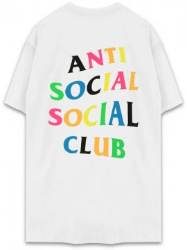 <strong>ANTI SOCIAL SOCIAL CLUB</strong>RAINY DAYS RAINBOW WHITE T-SHIRT<br>WHITE