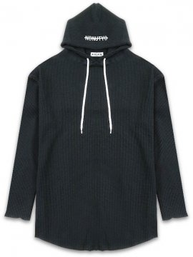 <strong>NIL DUE / NIL UN TOKYO</strong>PULLOVER WAFFLE BLACK HOODIE<br>BLACK