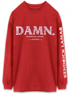 <strong>KENDRICK LAMAR MERCHANDISE</strong>Kung Fu LONG SLEEVE T-SHIRT<br>RED