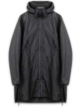 <strong>STEELBACK</strong>CLOAK STORM JACKET with PRINT<br>BLACK