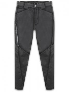 <strong>STEELBACK</strong>SLIM TROUSERS with ZIPPER<br>BLACK
