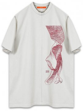 <strong>KOMAKINO</strong>JERSEY T-SHIRT NORMAL FIT CALLIPHORA<br>CREAM