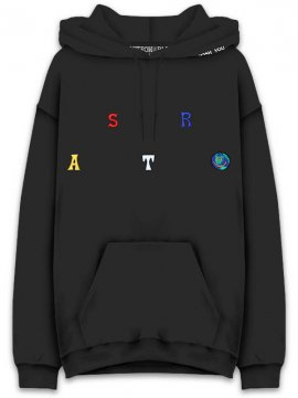 <strong>TRAVIS SCOTT ASTROWORLD MERCH.</strong>ASTROWORLD SCATTERED SWEAT HOODIE<br>BLACK