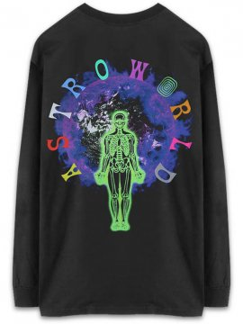 <strong>TRAVIS SCOTT ASTROWORLD MERCH.</strong>WISH YOU WERE HERE LONGSLEEVE T-SHIRT<br>BLACK