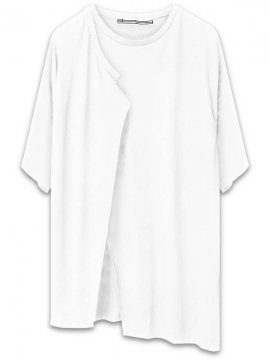 <strong>AG by EXPERIMENT</strong>LAYERED 5 SLEEVE T-SHIRT<br>WHITE