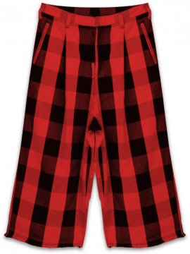 <strong>AG by EXPERIMENT</strong>WIDE TROUSERS BLOCK CHECK<br>RED x BLACK
