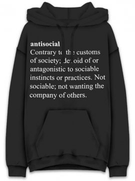 <strong>ANTI SOCIAL SOCIAL CLUB</strong> MEANINGS BLACK SWEAT HOODIE <br>BLACK