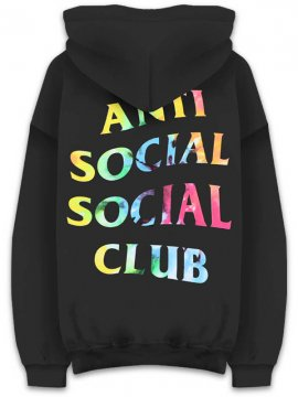 <strong>ANTI SOCIAL SOCIAL CLUB</strong>THAI DYE BLACK SWEAT HOODIE<br>BLACK