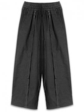 <strong>19SS KOMAKINO</strong>TAPED TROUSERS PANTS<br>BLACK