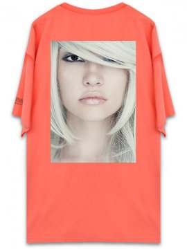 <strong>UNUSUAL</strong>BEING PROFOUNDLY THE SHADE BEAUTY T-SHIRT<br>NEON RED ORANGE