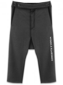 <strong>CONCEPTS D' ODEUR</strong>DROP CROP PANTS TEXT LOGO<br>BLACK