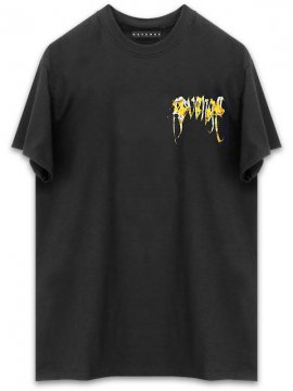 <strong>REVENGE GALLERY</strong>FLAME BLACK T-SHIRT<br>BLACK