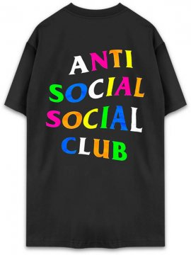 <strong>ANTI SOCIAL SOCIAL CLUB</strong>RAINBOW BLACK T-SHIRT<br>BLACK
