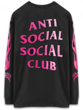 <strong>ANTI SOCIAL SOCIAL CLUB</strong>A FIRE INSIDE LONG SLEEVE T-SHIRT<br>BLACK
