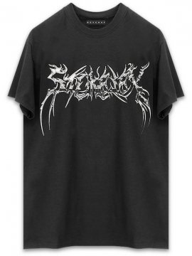 <strong>REVENGE GALLERY</strong>CHROME BLACK T-SHIRT<br>BLACK