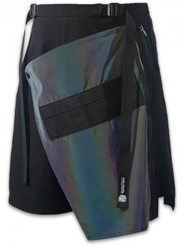 <strong>PUPIL TRAVEL</strong>SYMPHONY REFLECTIVE COLOR CHANGE POCKET HAKAMA SHORTS<br>BLACK
