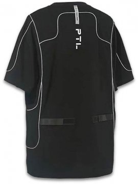 <strong>PUPIL TRAVEL</strong>REFLECTIVE STRAP STRUCTURE T-SHIRT<br>BLACK
