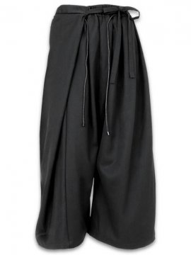 <strong>JOE CHIA</strong>WRAP AROUND LONG SKIRT PANTS<br>BLACK