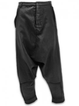 <strong>JOE CHIA</strong>DROPPED CROTCH CUT PANTS<br>BLACK