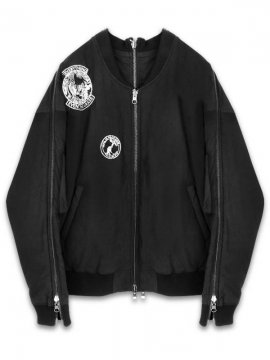 <strong>KOMAKINO</strong>PEEL REVERSIBLE MA-1 JACKET<br>BLACK