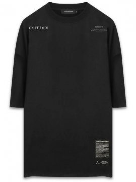 <strong>CONCEPTS D' ODEUR</strong>OVERSIZE T-SHIRT CD EMB, / TEXT PRINT<br>BLACK