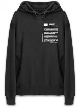 <strong>TOBIAS BIRK NIELSEN</strong>HOODIE W GRAPHIC PRINT<br>BLACK