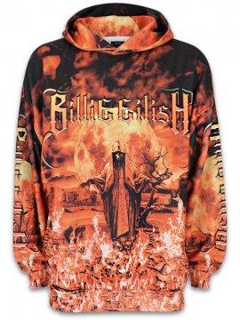 <strong>BILLIE EILISH x Bershka</strong>FIRE SWEAT HOODIE<br>FIRE ALLOVER