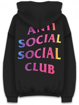 <strong>ANTI SOCIAL SOCIAL CLUB</strong> MORE HATE MORE LOVE BLACK SWEAT HOODIE <br>BLACK