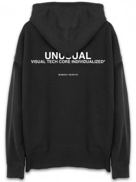 <strong>UNUSUAL</strong>FIXED OVERSIZED SWEAT HOODIE<br>BLACK