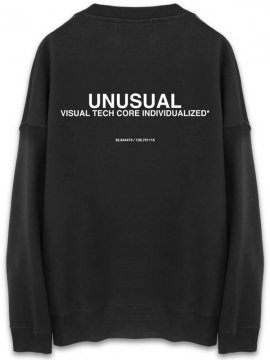 <strong>UNUSUAL</strong>FIXED OVERSIZED SWEAT CREW<br>BLACK