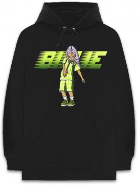 <strong>BILLIE EILISH x TAKASHI MURAKAMI</strong>RACER ANIMATION SWEAT HOODIE<br>BLACK