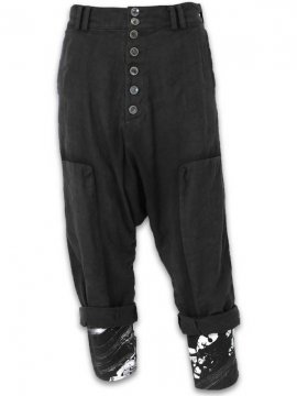 <strong>vital</strong>SARROUEL WIDE LAYERED PANTS<br>BLACK