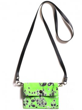 <strong>SALUTE</strong>BANDANNA BAG<br>LIME GREEN