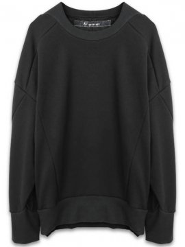 <strong>A.F ARTEFACT</strong>BOMBER HEAT OVERSIZED SWEAT TOP<br>BLACK