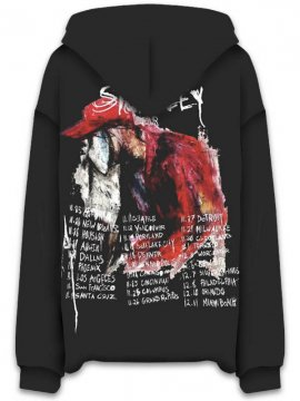<strong>REVENGE GALLERY</strong>STOKELEY TOUR BLACK SWEAT HOODIE<br>BLACK