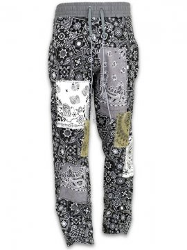 <strong>IMASINACHI NYC</strong>MIX BLACK PAISLEY PANTS<br>MIX BLACK - #7 - S
