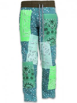 <strong>IMASINACHI NYC</strong>GREEN PAISLEY PANTS<br>GREEN - #14 - M