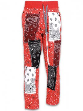 <strong>IMASINACHI NYC</strong>GREEN PAISLEY PANTS<br>RED - #16 - S