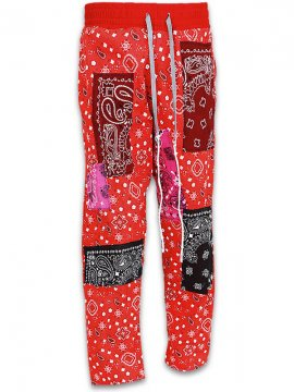 <strong>IMASINACHI NYC</strong>GREEN PAISLEY PANTS<br>RED - #17 - M