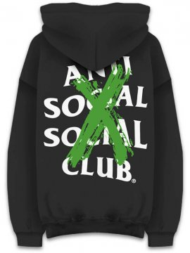 <strong>ANTI SOCIAL SOCIAL CLUB</strong>CANCELLED REMIX BLACK SWEAT HOODIE<br>BLACK