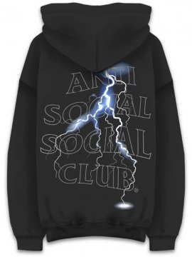 <strong>ANTI SOCIAL SOCIAL CLUB</strong>TWISTER BLACK SWEAT HOODIE<br>BLACK