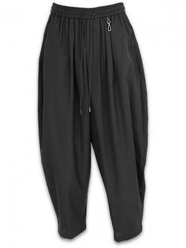 <strong>JOE CHIA</strong>RELAXED TROUSERS<br>BLACK