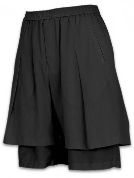 <strong>JOE CHIA</strong>LAYERED SHORT PANTS<br>BLACK