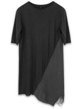 <strong>ARMY OF ME</strong>PANELLED ASYMMETERIC T-SHIRT 29<br>BLACK