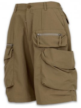 <strong>GOOPiMADE</strong>DP-2 MULTI-POCKET UTILITY SHORTS<br>KHAKI BEIGE