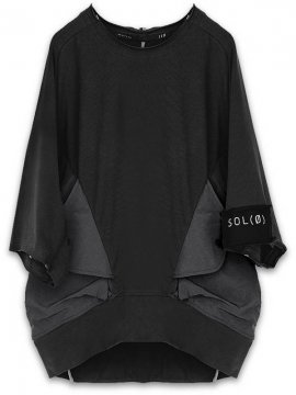 <strong>HAMCUS</strong>MAGNET POCKET OVERSIZED PULLOVER<br>BLACK