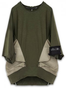 <strong>HAMCUS</strong>MAGNET POCKET OVERSIZED PULLOVER<br>RIFLE GREEN