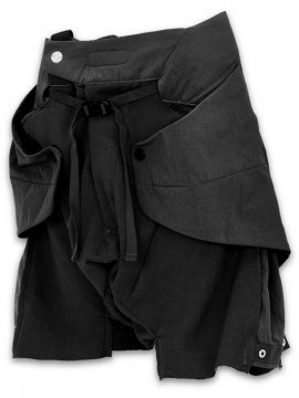 <strong>HAMCUS</strong>RAINFORCED MANTA PANEL LAYERED SHORTS<br>BLACK