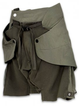 <strong>HAMCUS</strong>RAINFORCED MANTA PANEL LAYERED SHORTS<br>BURNT OLIVE