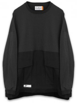 <strong>SIVA</strong>BDU WIDE LONG SLEEVE PULL<br>BLACK